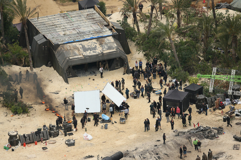 EXCLUSIVE: A downed ship and dead Storm Troopers and Rebels litter a near by lake as filming for Star Wars Rogue One gets underway. Felicity Jones, Donnie Yen, Jonathan Aris, Diego Luna can be seen in costume. Photos taken on September 9th 2015 Ref: SPL1119655  150915   EXCLUSIVE Picture by: James Jenkins / Splash News Splash News and Pictures Los Angeles:310-821-2666 New York:212-619-2666 London:870-934-2666 photodesk@splashnews.com