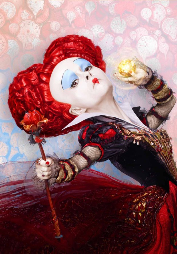 Helena Bonham Carter is the Red Queen in ALICE THROUGH THE LOOKING GLASS.
