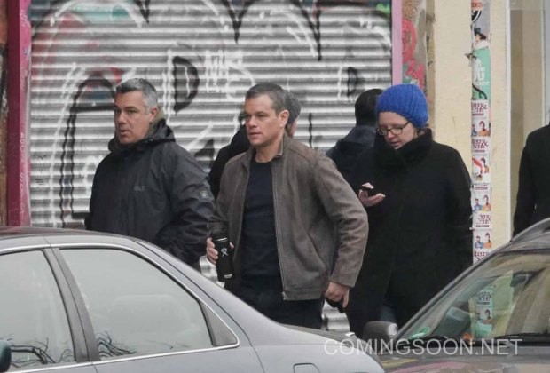 Matt Damon is seen filming Bourne 5 in Berlin