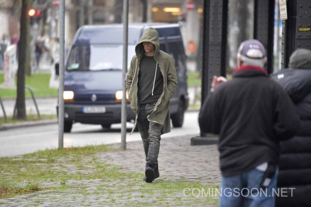 Matt Damon filming the 5th installment of the Bourne series with German action actor Vinzenz Kiefer in Kreuzberg which doubles for Prenzlauer Berg. Featuring: Vinzenz Kiefer Where: Berlin, Germany When: 25 Nov 2015 Credit: WENN.com