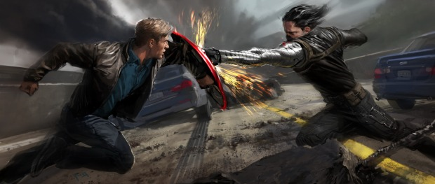 "Marvel's ""Captain America: The Winter Soldier"" ..The Winter Soldier Concept Art by Ryan Meinerding..?2013 Marvel"