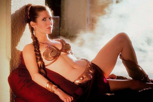carrie-fisher-posing-seductively-in-a-bikini