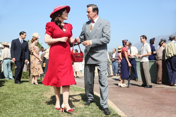 """MARVEL'S AGENT CARTER - """"The Lady in the Lake"""" - In the season premiere episode, """"The Lady in the Lake,"""" Peggy moves to the City of Angels to help Chief Daniel Sousa at the West Coast Strategic Scientific Reserve (SSR) investigate a bizarre homicide involving an alleged killer and Isodyne Energy, and reunites with some familiar faces. """"Marvel's Agent Carter"""" returns for a second season of adventure and intrigue, starring Hayley Atwell in the titular role of the unstoppable agent for the SSR (Strategic Scientific Reserve), TUESDAY, JANUARY 19 (9:00-10:00 p.m. EST) on the ABC Television Network. (ABC/Patrick Wymore) HAYLEY ATWELL, CURRIE GRAHAM"""