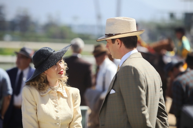 """MARVEL'S AGENT CARTER - """"The Lady in the Lake"""" - In the season premiere episode, """"The Lady in the Lake,"""" Peggy moves to the City of Angels to help Chief Daniel Sousa at the West Coast Strategic Scientific Reserve (SSR) investigate a bizarre homicide involving an alleged killer and Isodyne Energy, and reunites with some familiar faces. """"Marvel's Agent Carter"""" returns for a second season of adventure and intrigue, starring Hayley Atwell in the titular role of the unstoppable agent for the SSR (Strategic Scientific Reserve), TUESDAY, JANUARY 19 (9:00-10:00 p.m. EST) on the ABC Television Network. (ABC/Patrick Wymore) WYNN EVERETT, JAMES D'ARCY"""