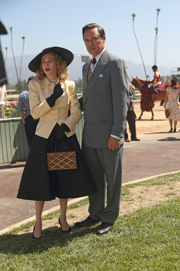 """MARVEL'S AGENT CARTER - """"The Lady in the Lake"""" - In the season premiere episode, """"The Lady in the Lake,"""" Peggy moves to the City of Angels to help Chief Daniel Sousa at the West Coast Strategic Scientific Reserve (SSR) investigate a bizarre homicide involving an alleged killer and Isodyne Energy, and reunites with some familiar faces. """"Marvel's Agent Carter"""" returns for a second season of adventure and intrigue, starring Hayley Atwell in the titular role of the unstoppable agent for the SSR (Strategic Scientific Reserve), TUESDAY, JANUARY 19 (9:00-10:00 p.m. EST) on the ABC Television Network. (ABC/Patrick Wymore) WYNN EVERETT, CURRIE GRAHAM"""