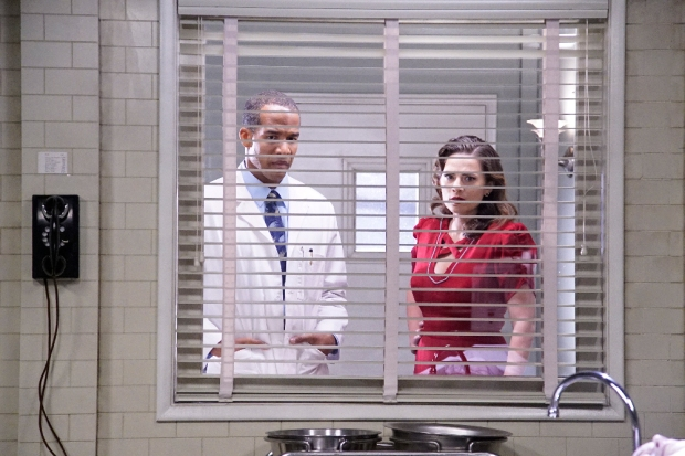 """MARVEL'S AGENT CARTER - """"The Lady in the Lake"""" - In the season premiere episode, """"The Lady in the Lake,"""" Peggy moves to the City of Angels to help Chief Daniel Sousa at the West Coast Strategic Scientific Reserve (SSR) investigate a bizarre homicide involving an alleged killer and Isodyne Energy, and reunites with some familiar faces. """"Marvel's Agent Carter"""" returns for a second season of adventure and intrigue, starring Hayley Atwell in the titular role of the unstoppable agent for the SSR (Strategic Scientific Reserve), TUESDAY, JANUARY 19 (9:00-10:00 p.m. EST) on the ABC Television Network. (ABC/Kelsey McNeal) REGGIE AUSTIN, HAYLEY ATWELL"""