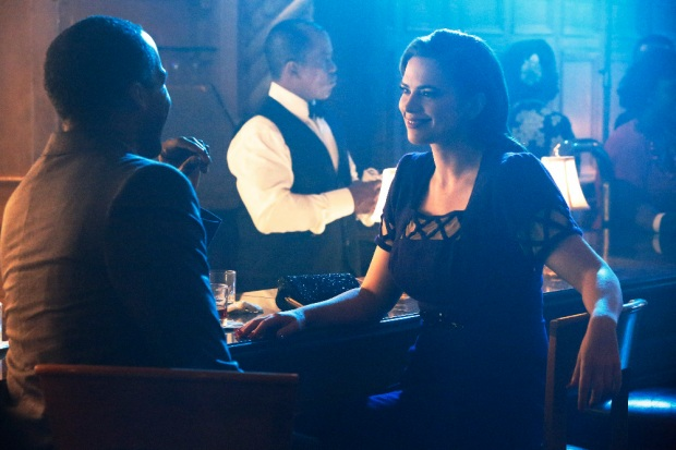 """MARVEL'S AGENT CARTER - """"A View in the Dark"""" - Peggy discovers her murder investigation has huge ramifications that can destroy her career, as well as everyone near and dear to her, on """"Marvel's Agent Carter,"""" TUESDAY, JANUARY 19 (10:00-11:00 p.m. EST) on the ABC Television Network. (ABC/Kelsey McNeal) REGGIE AUSTIN, HAYLEY ATWELL"""
