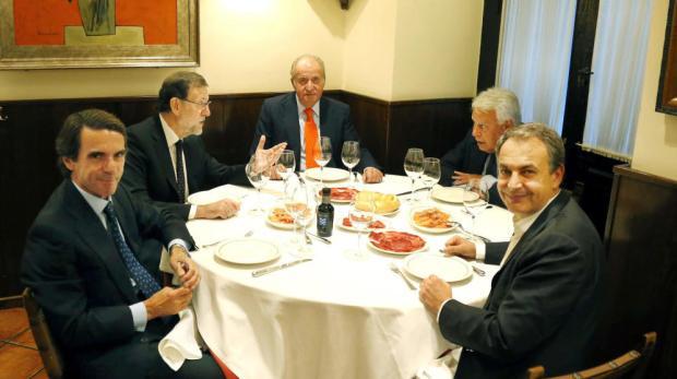 el-rey-emerito-cena-con-rajoy-zapatero-aznar-y-felipe-gonzalez-en-casa-lucio
